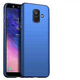 best sneakers 8f2d4 907d5 4Cut Matte Finish Rubberised Hard Back Case Cover For Samsung Galaxy J8 -  Blue