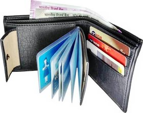 Fantasy Home PU Black wallet with card slot For Men