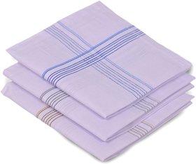 Concepts 100 Cotton Pack of 3 Men's Handkerchief (Assorted)