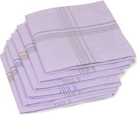 Concepts 100 Cotton Pack of 6 Men's Handkerchief (assorted)