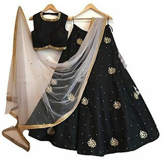 New Latest Bollywood Designer Black Embroidered Lehenga CholiS