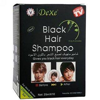 40 Sachets - Black Hair Shampoo - Instant Black Hair Magic Shampoo - 25ml X 40