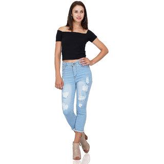 Essence Women's Slim Fit Light Blue Jeans
