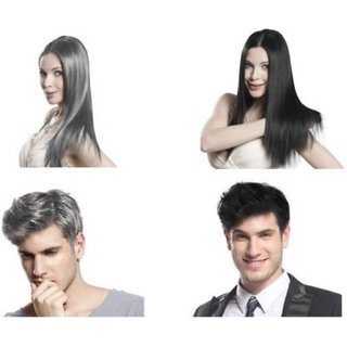 NEW Black Hair Darkening Shampoo - 25ml X 10 pcs. - Instant Black Hair in 5 min.