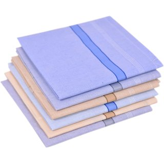 Concepts 100 Cotton Handkerchief Pack of 6 (Assorted)