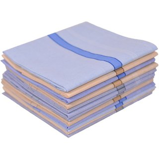 Concepts 100 Cotton Handkerchief Pack of 12 (Assorted)