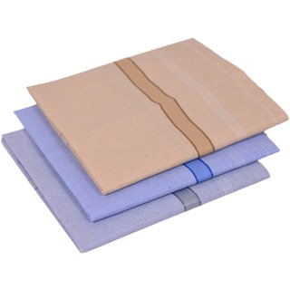 Concepts 100 Cotton Handkerchief Pack of 3 (Assorted)