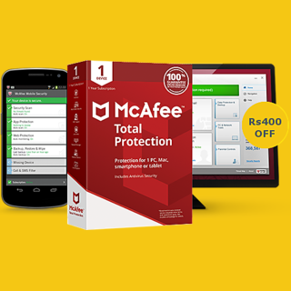 McAfee Antivirus PLUS 2018 1 Year 1 Devices for windows mac android