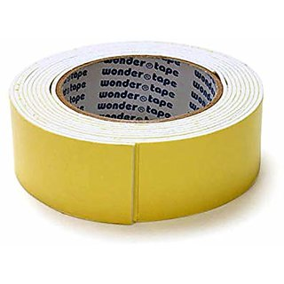 Webshoppers - Adhesive Double Sided Foam Tape of Size 40 mm (4 cm) X 5 M - Pack of 1