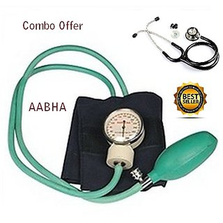 Aabha Medical student aneroid sphygmomanometer Dial Blood Pressure Monitor With stethoscope / Student Dial bp monitor