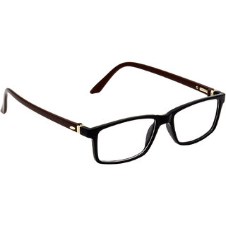 HRINKAR Black Rectangle and Square Bifocal and Single Vision Latest Optical Spectacle Chasama Frame - HFRM-BK-BWN-11