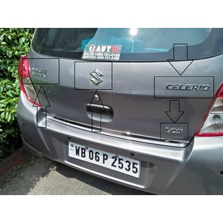 Logo Maruti Suzuki Celerio Rear kit Monogram Emblem Chrome Dicky Rear Monogram Monogram as marked