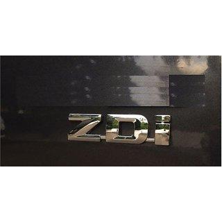 LOGO decals ZDI MONOGRAM EMBLEM CHROME Maruti Suzuki Swift Dzire Ritz Wagon R baleno alto celerio ecco omni ciaz ertiga