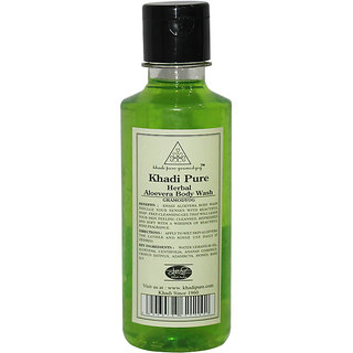 Khadi Pure Herbal Aloevera Body Wash - 210ml