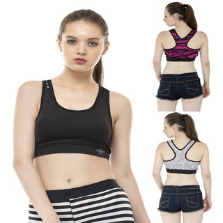 e10e94bb4b Buy Pack of 2 Aarmy Fit Racerback Bra Online - Get 49% Off