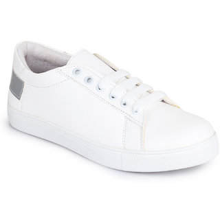 Picktoes White & Grey Sneakers For Women