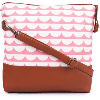Suprino Women and girls Canvas Pink Sling Bag