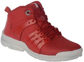 Port Men's Red Mesh Casual Boot