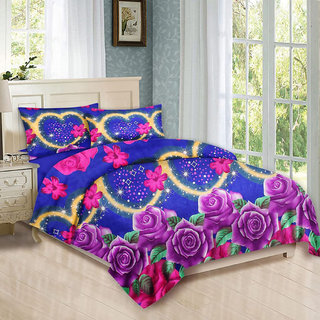 Buy Microfiber Heart Shape Double Bed Sheet With Pillow Cover Online 275 From Shopclues