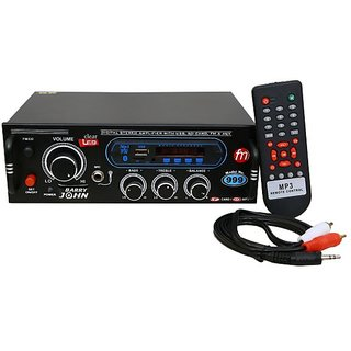 Barry John Surround Amplifier with USB AUX MMC FM Bluetooth  Double Ic 4440 160 W AV Power Amplifier (Black)