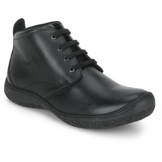 Red Chief Black Mid Ankle Leather Boot For Men (PF3470 001)