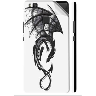 Snooky Printed Vinyl Mobile Skin Sticker For Huawei Honor 8 Smart