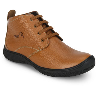 Red Chief Tan Mid Ankle Leather Boot For Men (PF3470 107)
