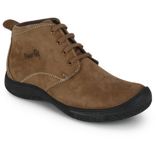 Red Chief Brown Mid Ankle Leather Boot For Men (PF3470 313)
