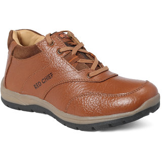 Red Chief Tan Low Ankle Leather Boot For Men (RC3421 107)