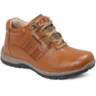 Red Chief Tan Low Ankle Leather Boot For Men (RC3424 107)