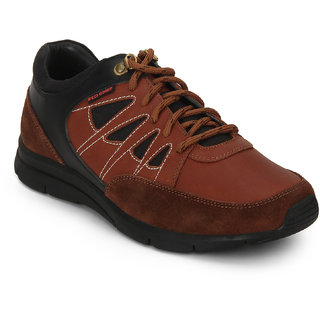 Red Chief Tan Low Ankle Leather Boot For Men (RC3459 006)