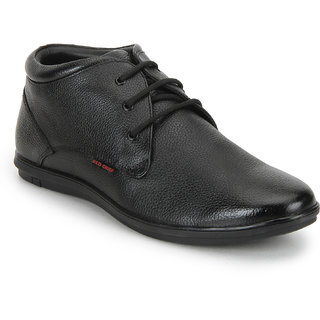 Red Chief Black Low Ankle Leather Boot For Men (RC3467 001)