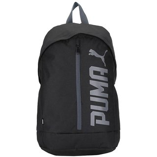 f3b30ef3c589 Buy Puma Pioneer Cap Black Backpack Bag Online - Get 43% Off