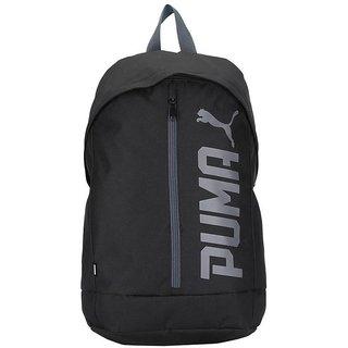 1ad8e9e296e Buy Puma Pioneer Cap Black Backpack Bag Online - Get 53% Off