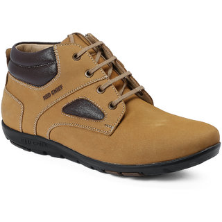Red Chief Rust Mid Ankle Leather Boot For Men (RC3473 022)