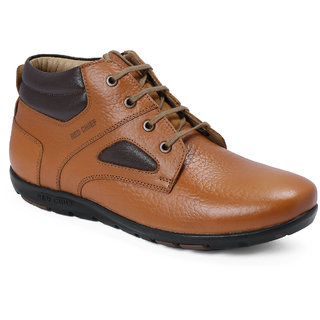 Red Chief Tan Mid Ankle Leather Boot For Men (RC3473 107)