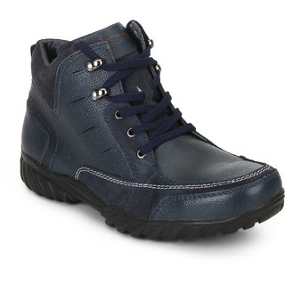 Red Chief Blue Mid Ankle Leather Boot For Men (RC3474 002)