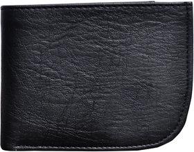 Fashion Village Black Curve Wallet Pack of 1