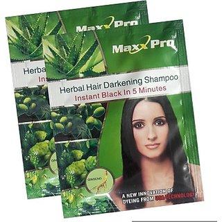 20 Pcs. - Maxx Pro Instant Fast Black Hair Shampoo (30ml X 20 Sachets)