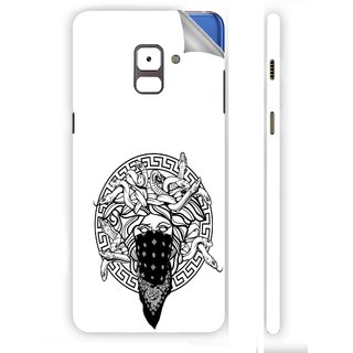 Snooky Printed Vinyl Mobile Skin Sticker For Samsung Galaxy A8 Plus