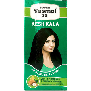 Super Vasmol 33 Kesh Kala Oil Based Hair Colour 50ml