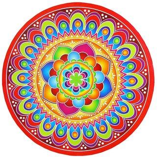 Rangoli Stickers Round 1 pc. (23.5 cm diameter) - Assorted Designs