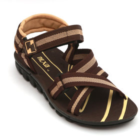 Nexa Brown And Beige Floater Sandals