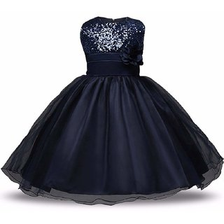 198d55d5d48c Buy Alisha Moda Kids Baby Girl Sequance Ball Gown Dress (SSJ-15-Navy ...