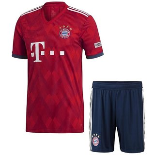 d48a0acf4 Buy BAYERN MUNCHEN HOME RED KITJERSEY WITH SHORTS 2018-19 Online - Get 50%  Off