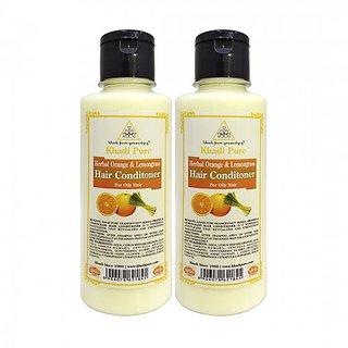 Khadi Pure Herbal Orange  Lemongrass Hair Conditioner - 210ml (Set of 2)
