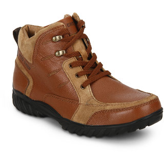 Red Chief Tan Mid Ankle Leather Boot For Men (RC3474 107)
