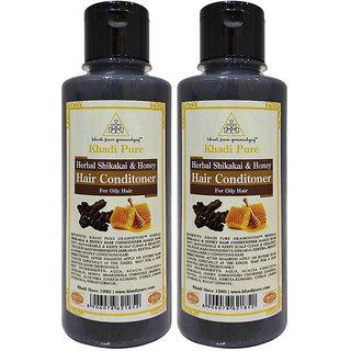 Khadi Pure Herbal Shikakai  Honey Hair Conditioner - 210ml (Set of 2)