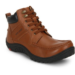 Red Chief Tan High Ankle Leather Boot For Men (RC3476 107)