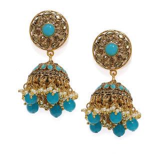 Zaveri Pearls Gold Tone Traditional Jhumki Earring-ZPFK7462